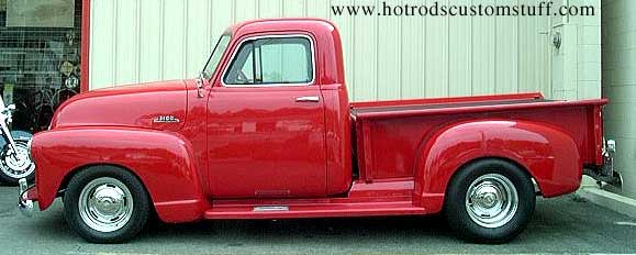 Old chevy truck side view