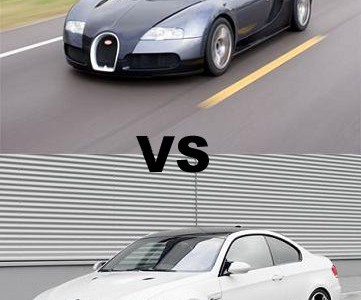 bugatti veyron vs bmw m3no car no fun muscle cars and power cars no car n. Black Bedroom Furniture Sets. Home Design Ideas
