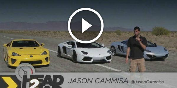 Bugatti Veyron vs. Lamborghini Aventador vs. Lexus LFA vs. McLaren MP4 -12C