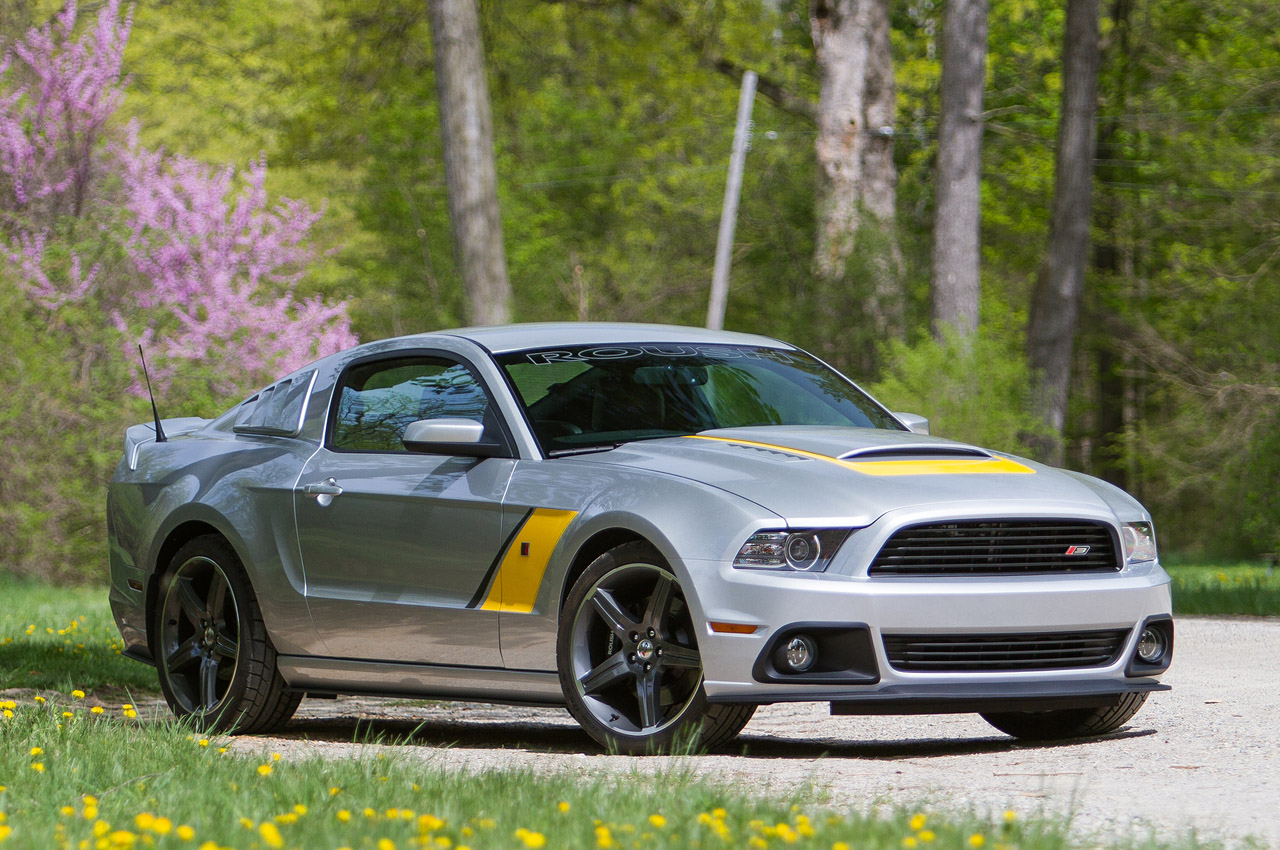 gallery roush presents the 2014 stage 3 mustang in silver and yellow no car no fun muscle cars. Black Bedroom Furniture Sets. Home Design Ideas
