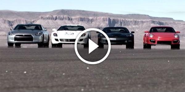 race of gods who wins corvette zr1 vs nissan gtr vs ferrari 599 gtb vs por. Black Bedroom Furniture Sets. Home Design Ideas