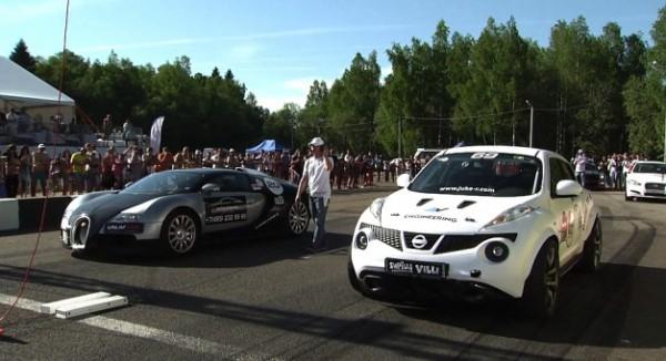 Drag Racing Nissan Juke R Vs Bugatti Veyron Vs Lamborghini Ugr Vs