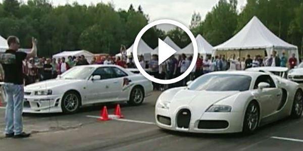 2015 Dodge Magnum >> DRAG RACE SHAME: Bugatti Veyron HUMILIATED by Nissan Skyline GT-R R34! - NO Car NO Fun! Muscle ...