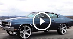 70 Chevelle Enjoys Riding on 24' Irocs.