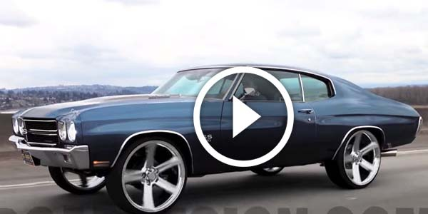 YOU HAVE TO RESPECT THIS ONE! 70 Chevelle Enjoys Riding on 24? Irocs…Making a lots of noise and getting attention!