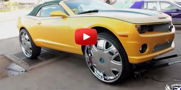 Camaro On 30 Inch Rims : He just won a lottery camaro ss and new dub wheels