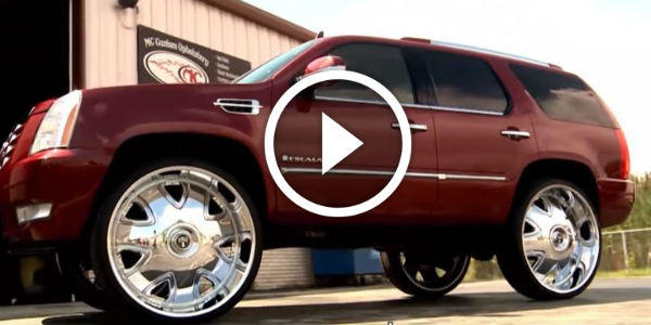 TOY FOR THE WEALTHY WIVES - CUSTOM Escalade with 32 inch ...