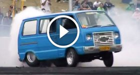 Drifting in Weird Chevy Van