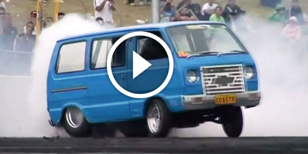 YOU HAVEN'T SEEN THIS FOR SURE! MAXIMUM Burnout and Drifting in a Weird Chevy Van!