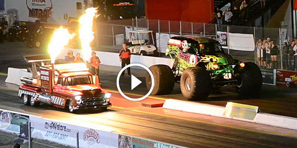 DRAG RACE FROM HELL - Grave Digger vs Shockwave! WHO WINS THIS ONE? - NO Car NO Fun! Muscle Cars ...