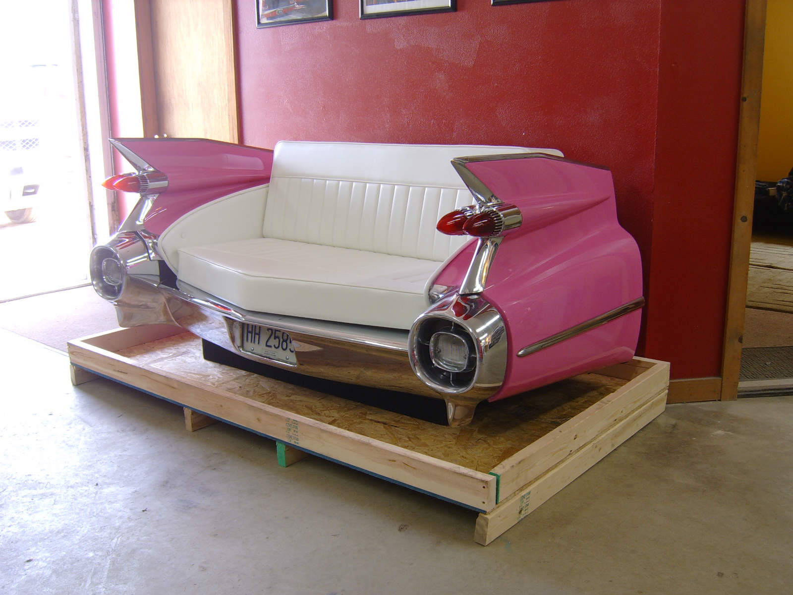 1959 Pink Cadillac Couch NO Car NO Fun Muscle Cars And