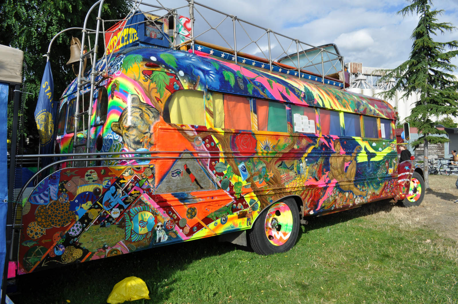Hippie School Bus No Car No Fun Muscle Cars And Power