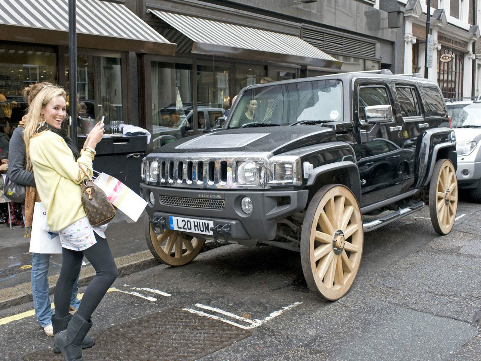 Hummer with Carriage wheels - NO Car NO Fun! Muscle Cars and Power ...