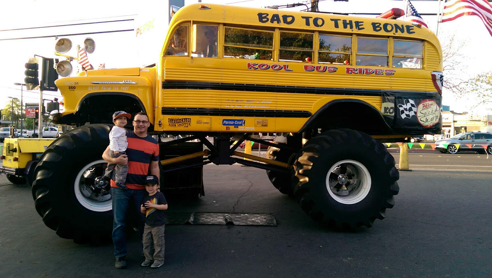 Monster Truck School Bus No Car No Fun Muscle Cars And Power