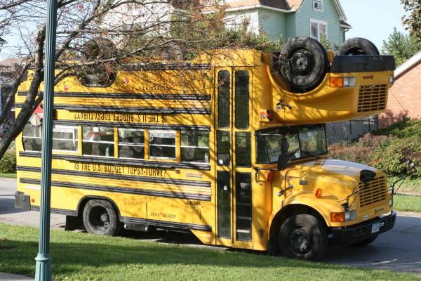 Topsy Turvy School Bus X on Volvo Truck Rims
