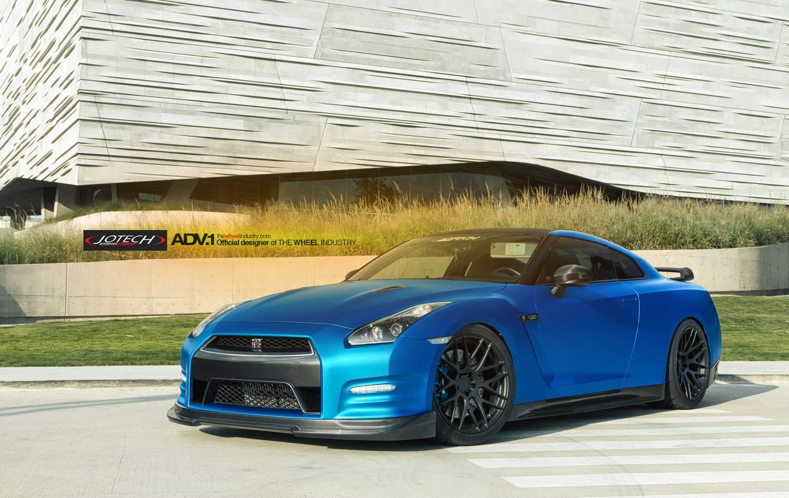 Blue Nissan Gt R By Jotech And Adv 1 1 No Car No Fun