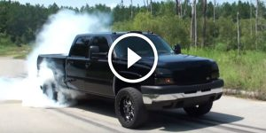 Chevy Duramax Smoking Burn Out