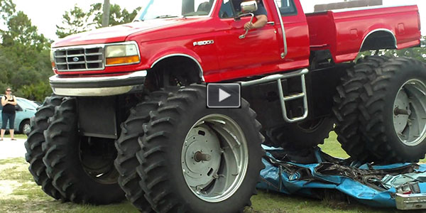 Monstrous Ford Truck Irons Down Classic Car