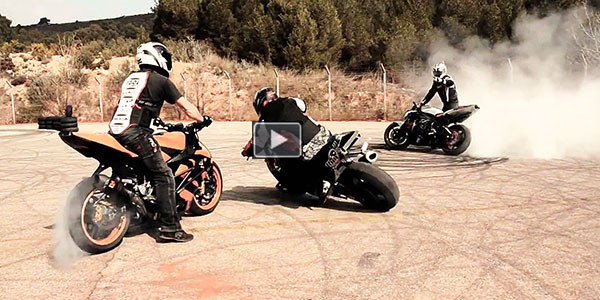 Moto Gymkhana With Incredible Drifting Stunts