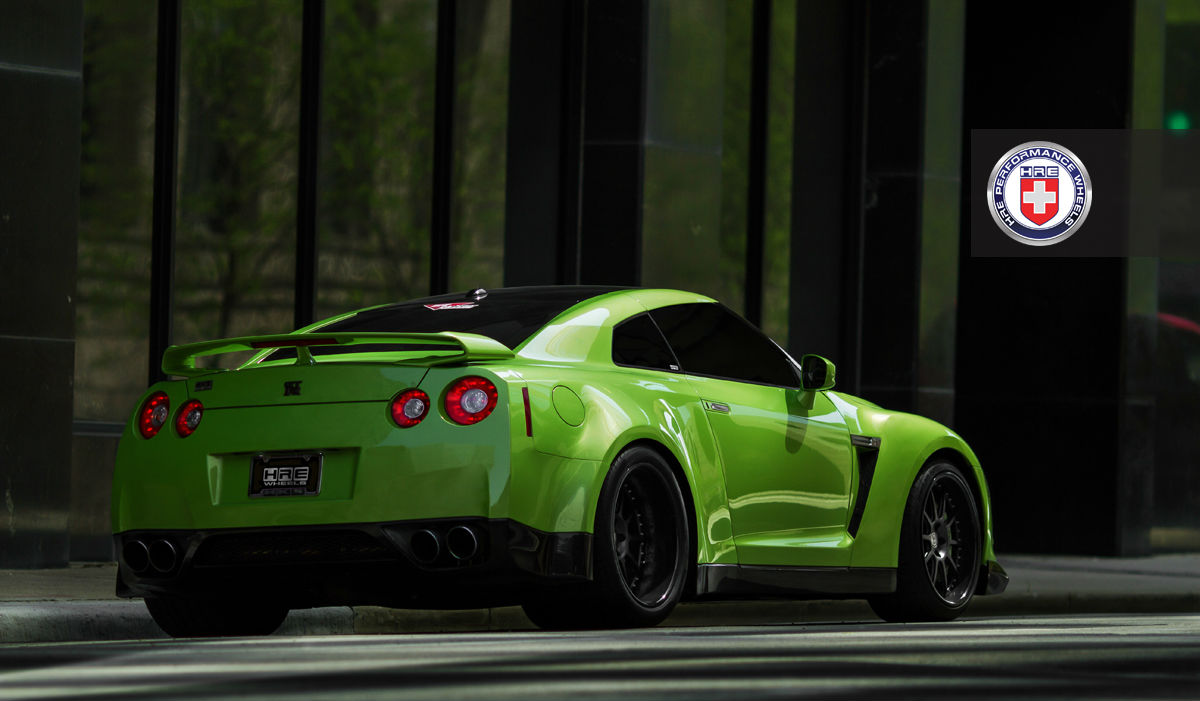Lincoln Motor Company >> green-hulk-widebody-nissan-gtr-from-jotech-on-hre-wheels-rear right view - NO Car NO Fun! Muscle ...