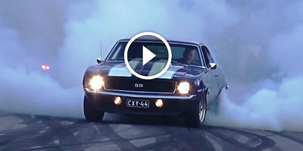 Great Video Of Powerslide And Burnout By A 1969 Chevy Camaro