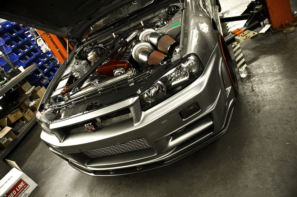 2015 Dodge Magnum >> SP Engineering 1000 hp Nissan Skyline R34 open hood front view - NO Car NO Fun! Muscle Cars and ...