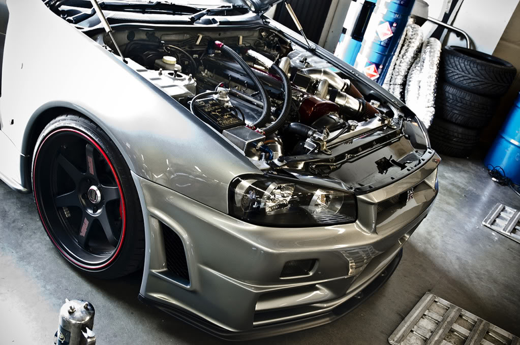 Sp Engineering 1000 Hp Nissan Skyline R34 Open Hood Side