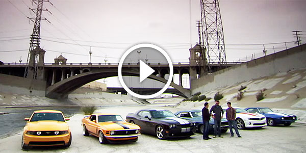 Drag Race Of The Century Classic Vs Modern Muscle Cars La River