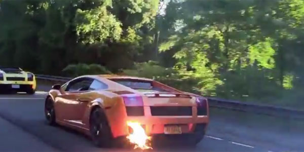 Watch This 1800 HP Gallardo Monster Shooting Up Some Flames on the Road!