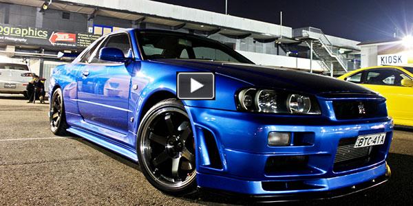 BOMBER EDITION  Nissan Skyline R34 GTR VSpec II Nr in Night