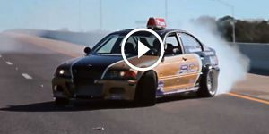 Pizza Delivery Guy in BMW E46 drifts