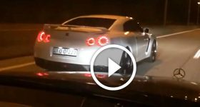Supercharged Mercedes E63 vs GTR