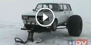 ULTIMATE OFF-ROADER Russian Lada on Snow Plugs