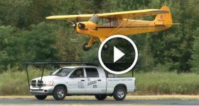 plane LANDING A Plane On TOP Of a Moving DODGE Truck
