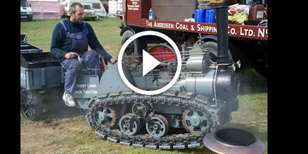 Something I Need To Have!!! Awesome FULLY FUNCTIONAL 1/3 Scale Model Of The Unique Hornsby Chain Tractor!!!