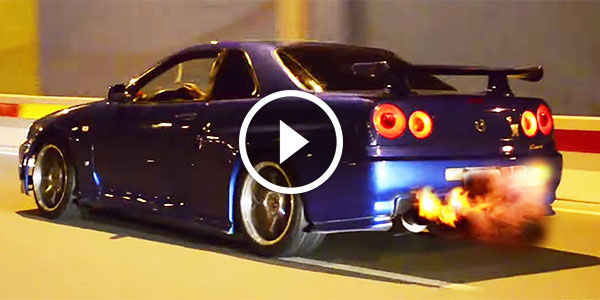 Check Out This Skyline GT R Flame Throwing Show U2013 Itu0027s Getting Hot In  Hereu2026!   NO Car NO Fun! Muscle Cars And Power Cars! |