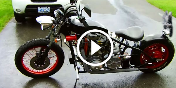 FIRST EVER…! Punsun V Twin DIESEL MOTORCYCLE, Product of One Teenager's Imagination!