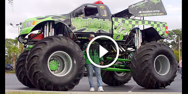 Monster Truck Doing DONUTS, CAR CRUSHING And Other Crazy