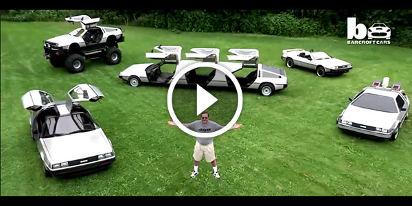 THIS IS HUGE – Delorean Fleet Monster Truck Limo and Hovercraft in action – TOTAL MADNESS!