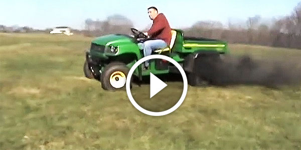 Turbocharged MONSTER Diesel John Deere Gator DOING DONUTS and DIGGING the Ground!
