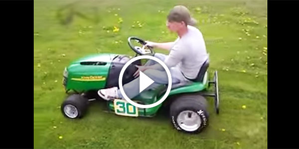 Omg Drifting Madness John Deere Lawn Mower Used In