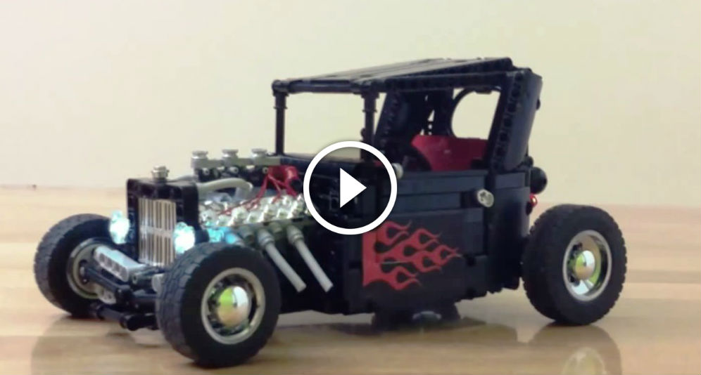 The Coolest Drifting Car Ever This Lego Hot Rod Fire