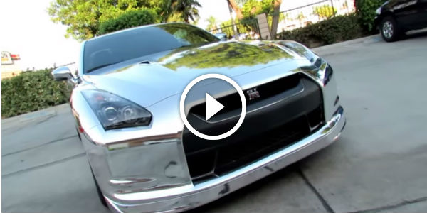 Nissan GTR R35 Wrapped in Silver Chrome By Impressive Wrap