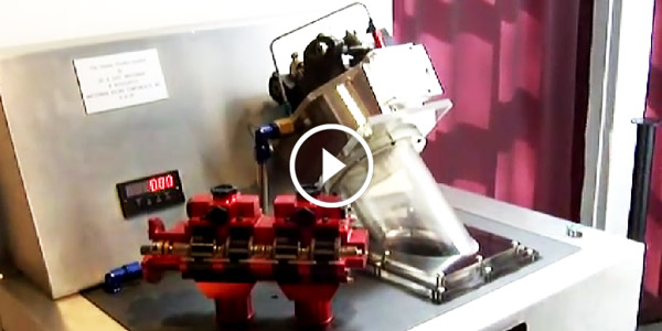 A Great Demonstration on One Dragster's Fuel Consumption! One Cylinder Fuel Pump in Action!