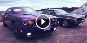 Now & Then Dodge Challenger