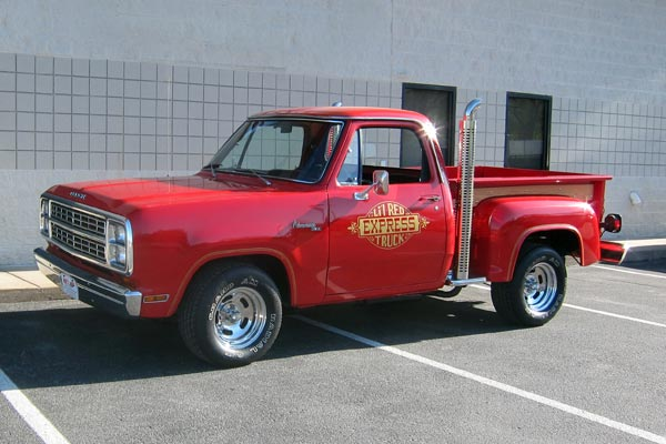 Dodge Lil E Red Express Truck on 1980 Chevy Magnum