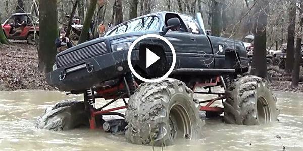 Mud 1 Cummins 0 Cummins Truck Completely Stuck In A Deep