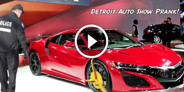 MAJOR PANIC at The 2015 Detroit Auto Show When Someone 'Scratched' SUPER EXPENSIVE Cars!