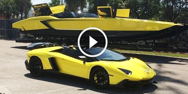 The First Lamborghini SPEED BOAT – LamBoat RACING the Aventador LP760-4! In the Billionaire's World, Nothing is Impossible!