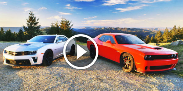 Battle Of Gods 2015 Dodge Challenger Srt Hellcat Vs 2015